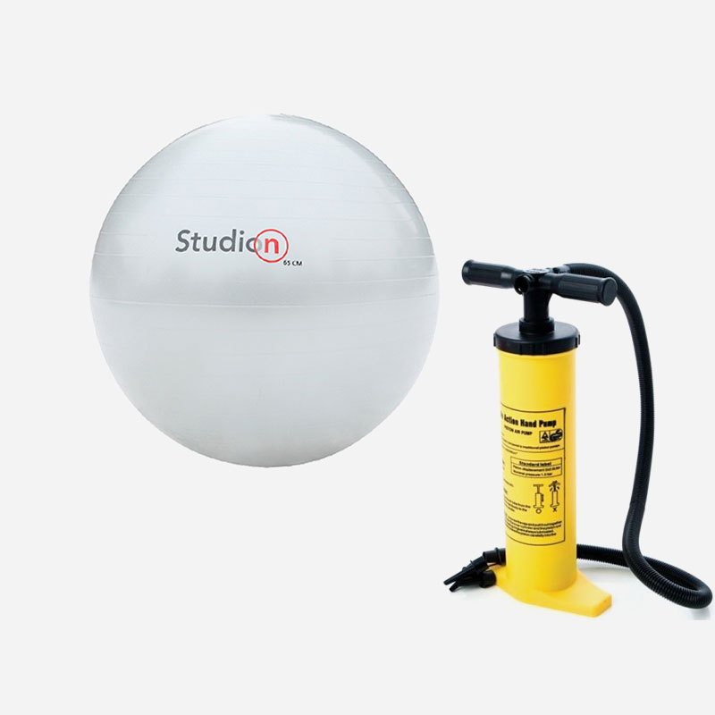 Combideal: Gymball + Dual Action Pump